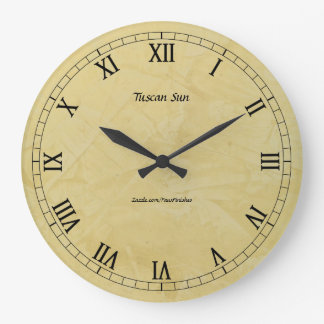 Tuscan Sun Faux Finish 2.0 Large Clock