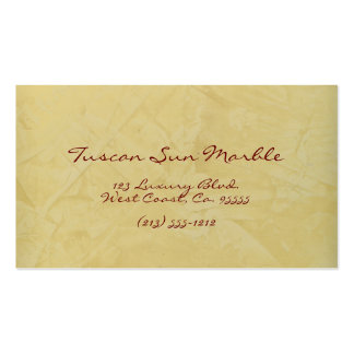 Tuscan Sun Marble Pack Of Standard Business Cards