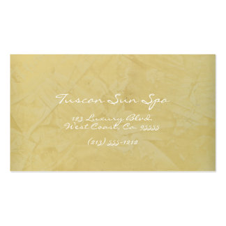 Tuscan Sun Spa Pack Of Standard Business Cards