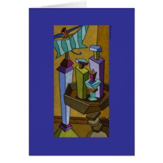 Tuscan Table Setting Greeting Card