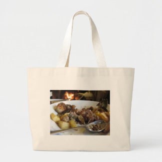 Tuscan typical recipe of baked pork and potatoes jumbo tote bag