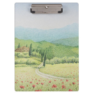 Tuscan Vineyards, Italy in Pastel Clipboard