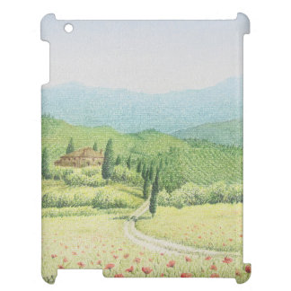 Tuscan Vineyards, Italy in Pastel iPad Case