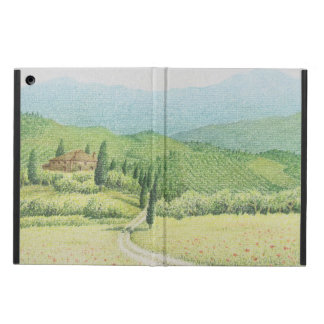 Tuscan Vineyards, Italy in Pastel iPad Cover