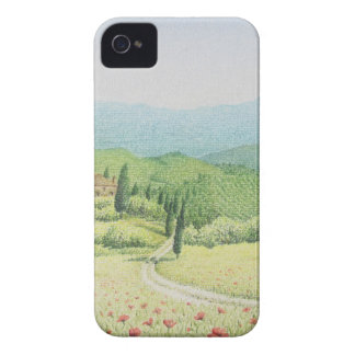 Tuscan Vineyards, Italy In Pastel iPhone 4 Case