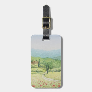 Tuscan Vineyards, Italy in Pastel Luggage Tag