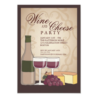 Tuscan Wine & Cheese Tasting Party Invitation