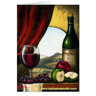 Tuscan Wine I Card
