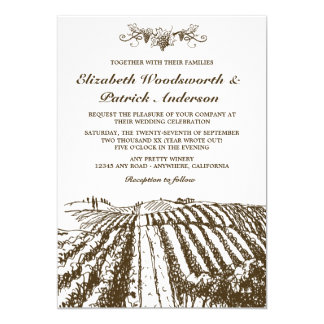 Tuscan Winery Rustic Vineyard Wedding Invitations