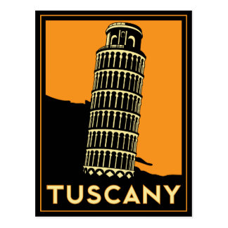Tuscany Art Deco Poster Postcard