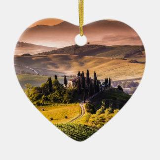 Tuscany Ceramic Heart Decoration
