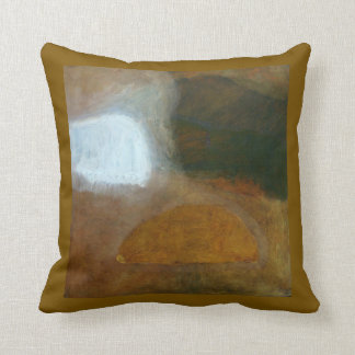 Tuscany Earth Tones Abstract Landscape Painting Cushion