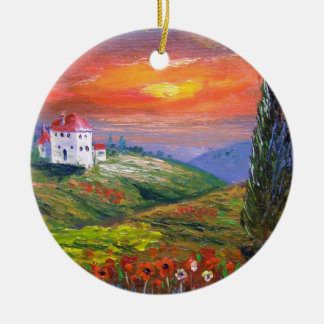 Tuscany Fire Sky Christmas Ornament