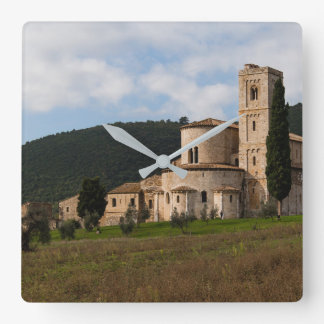 Tuscany, Italy countryside landscape house Square Wall Clock