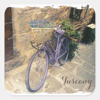 Tuscany, Italy. Illustration Square Sticker