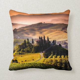 Tuscany, Italy landscape photograph Cushion