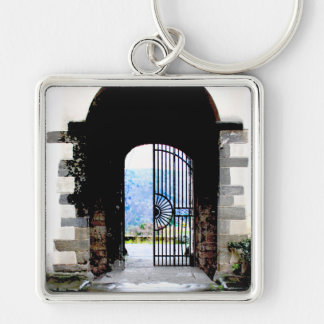Tuscany Italy Novelties Silver-Colored Square Key Ring