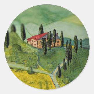Tuscany, Italy Round Sticker