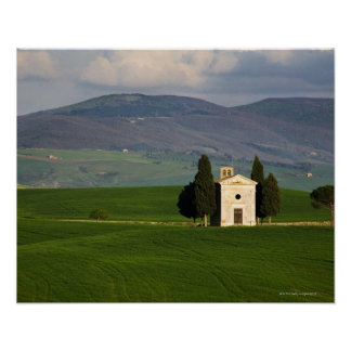 Tuscany, Italy, Val d'Orcia, Pienza, Chapel of Poster