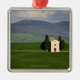 Tuscany, Italy, Val d'Orcia, Pienza, Chapel of Silver-Colored Square Decoration