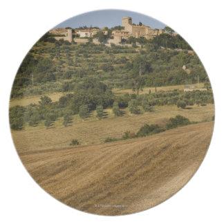 Tuscany landscape around of Monticchiello south Plate