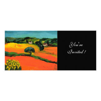 TUSCANY LANDSCAPE blue green yellow orange Personalized Announcements
