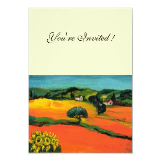 TUSCANY LANDSCAPE , blue green yellow orange Custom Announcements
