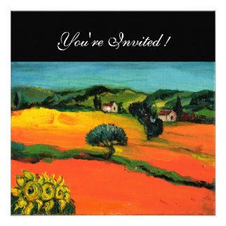 TUSCANY LANDSCAPE blue green yellow orange Announcements