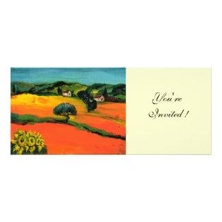 TUSCANY LANDSCAPE blue green yellow orange Personalized Invitation