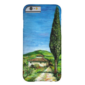 TUSCANY LANDSCAPE / OLD FARMHOUSE IN CHIANTI BARELY THERE iPhone 6 CASE
