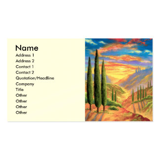 Tuscany Landscape Painting - Multi Business Card Template