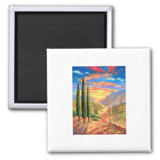 Tuscany Landscape Painting - Multi Magnets