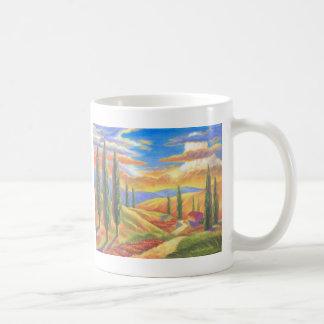 Tuscany Landscape Painting - Multi Coffee Mugs