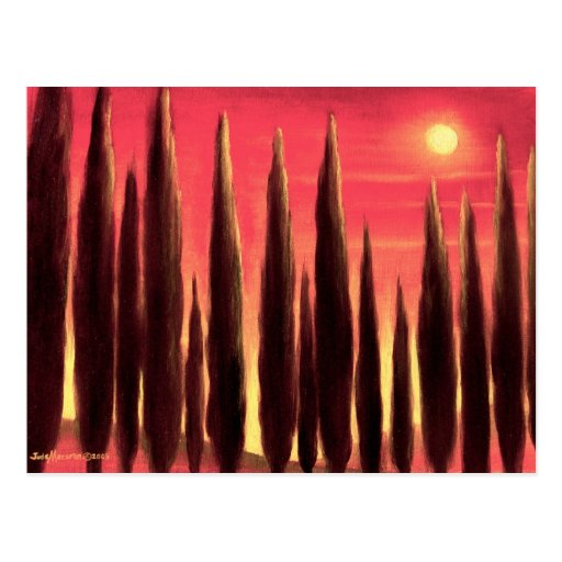 Tuscany Landscape Painting - Multi Post Card
