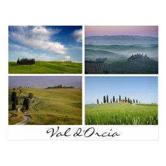 Tuscany landscapes postcard