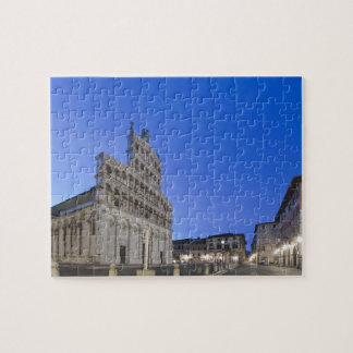 Tuscany, Lucca, Piazza San Michele at Dawn Jigsaw Puzzle