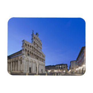 Tuscany, Lucca, Piazza San Michele at Dawn Magnet