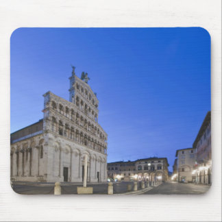 Tuscany, Lucca, Piazza San Michele at Dawn Mouse Pad