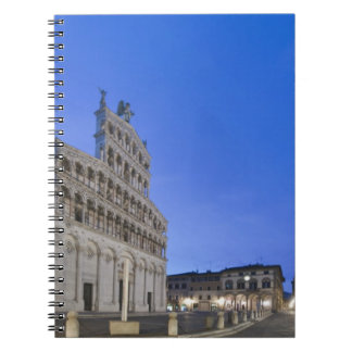 Tuscany, Lucca, Piazza San Michele at Dawn Notebook