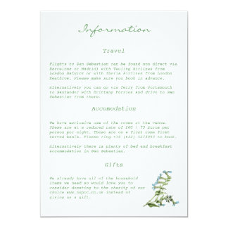 Tuscany Meditteranean Style Information Card