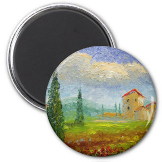 Tuscany Oil Painting Magnet