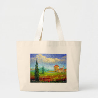 Tuscany Poppies Jumbo Tote Bag