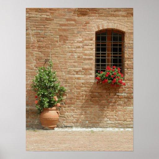 Tuscany pot plants print