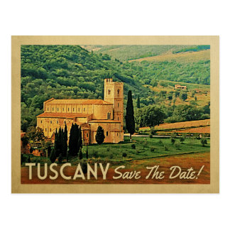 Tuscany Save The Date Vintage Italy Postcards