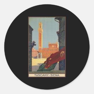 Tuscany Siena Classic Round Sticker