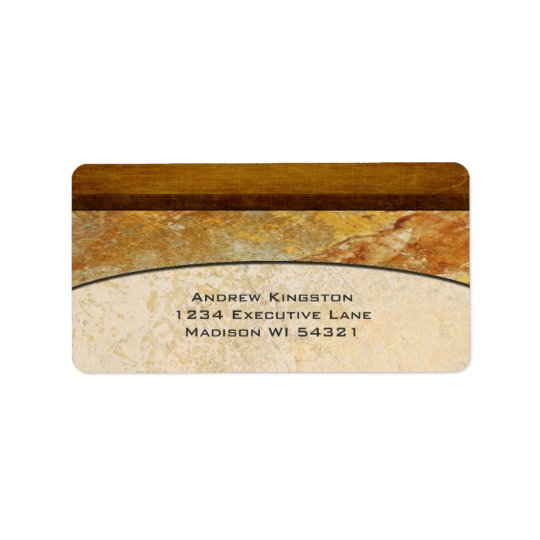 Tuscany Stone Marble Architectural Address Label