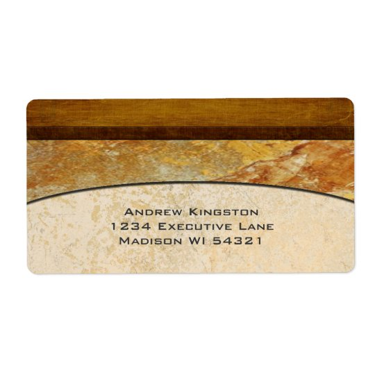 Tuscany Stone Marble Architectural Custom Shipping Label