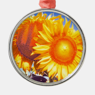 tuscany sunflower2.jpg Silver-Colored round decoration