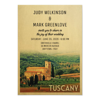 Tuscany Wedding Invitation Vintage Italy