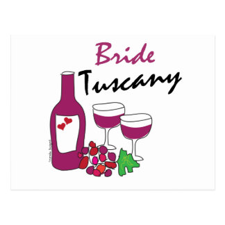 Tuscany Weddings, Bride Postcard